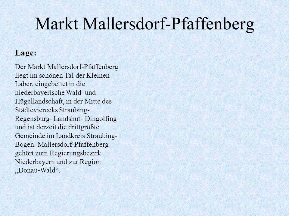 Wo befindet sich Mallersdorf-Pfaffenberg Der Landkreis und seine 37 Gemeinden