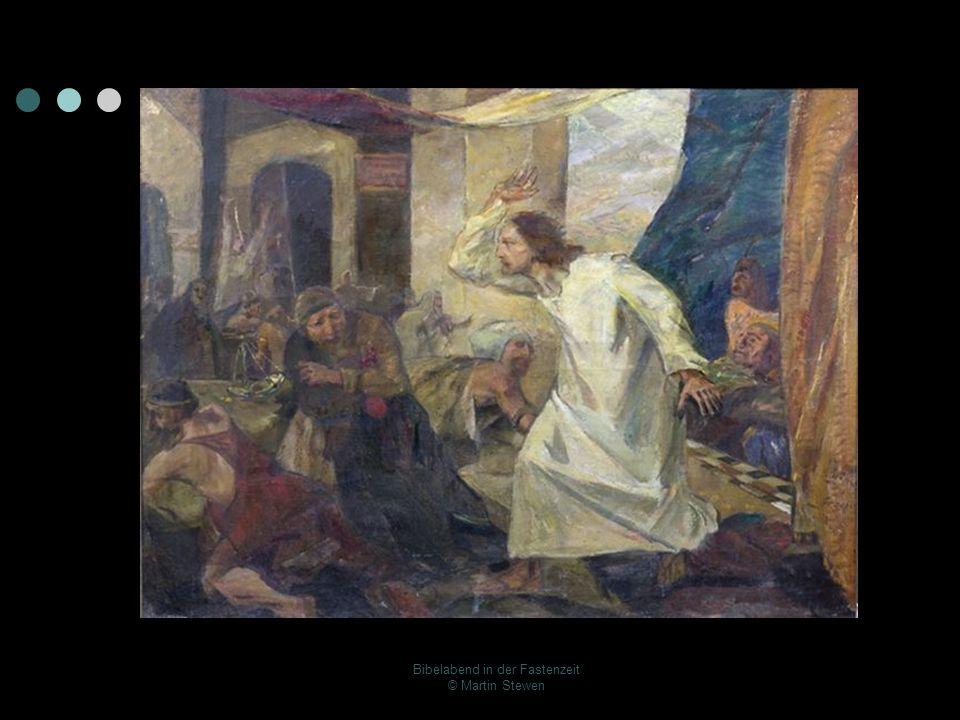 Die Tempelreinigung nach Johannes - Kapitel 2 13 Das Paschafest der Juden war nahe und Jesus zog nach Jerusalem hinauf.