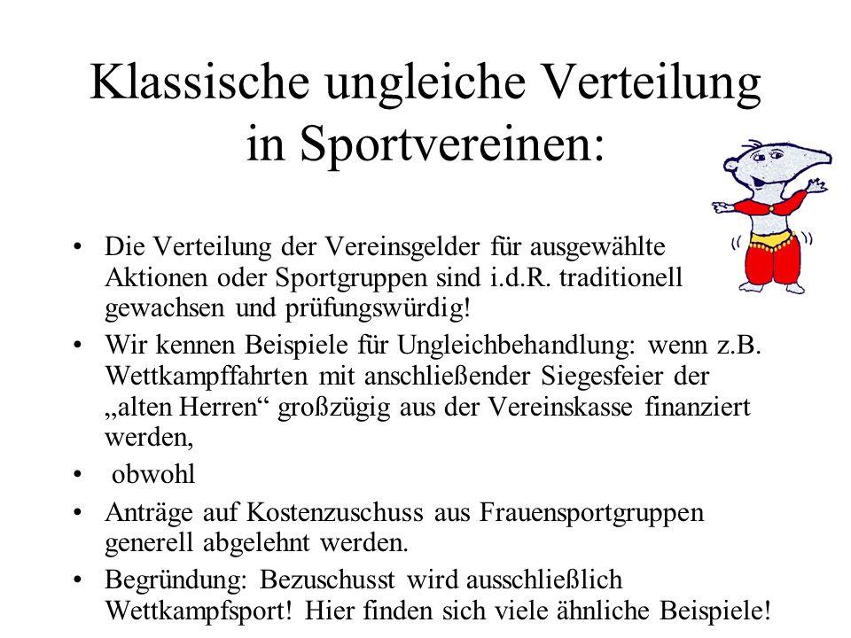 klassisches Gender-Beispiel: Ein Fußballstadion (Kosten 2,5 Million.