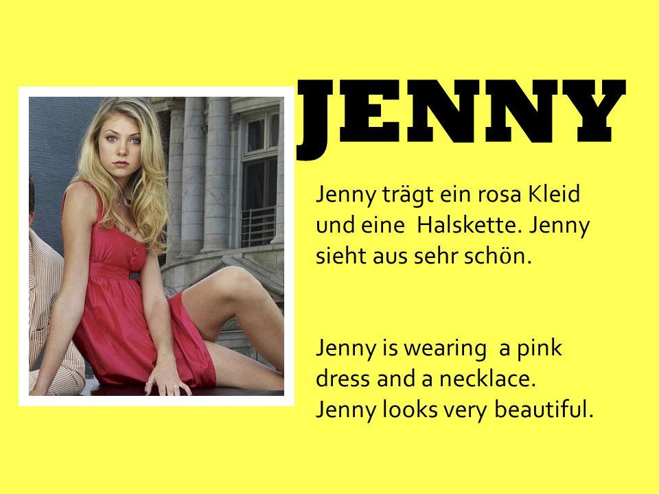 JENNY Jenny trägt ein rosa Kleid und eine Halskette. Jenny sieht aus sehr sch ӧ n. Jenny is wearing a pink dress and a necklace. Jenny looks very beau