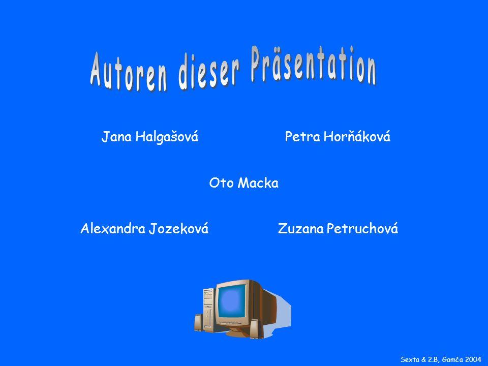 Jana HalgašováPetra Horňáková Alexandra JozekováZuzana Petruchová Oto Macka Sexta & 2.B, Gamča 2004