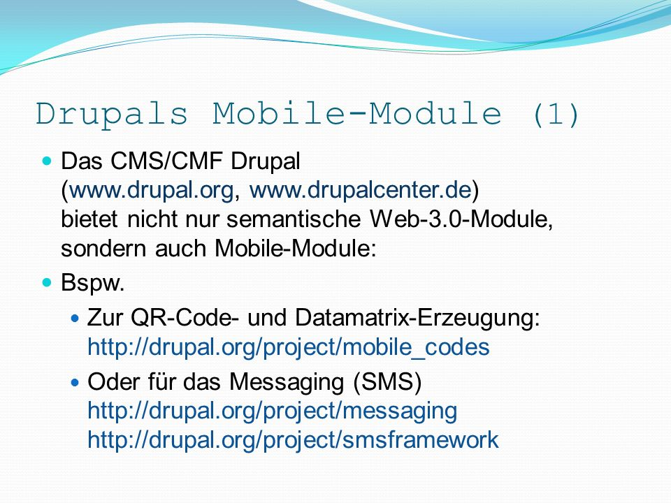 Attribute für Mobiles (2).