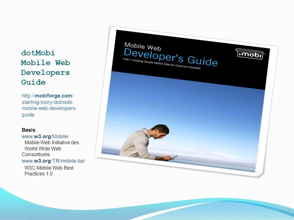 Drupals Mobile-Module (2) Praxis-Tutorial: http://drupal.org/project/mobile_tools http://drupal.org/project/mobile_plugin … machen beide von WURFL Gebrauch http://drupal.org/project/mobile_garland http://drupal.org/project/nokia_mobile_theme