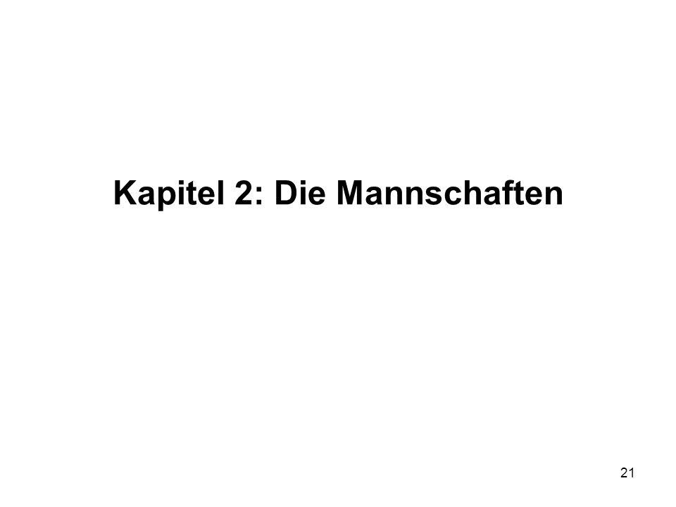 21 Kapitel 2: Die Mannschaften
