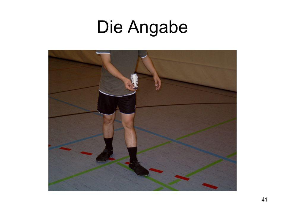 41 Die Angabe
