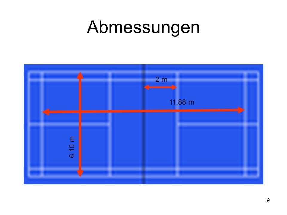 9 Abmessungen 11,88 m 6,10 m 2 m