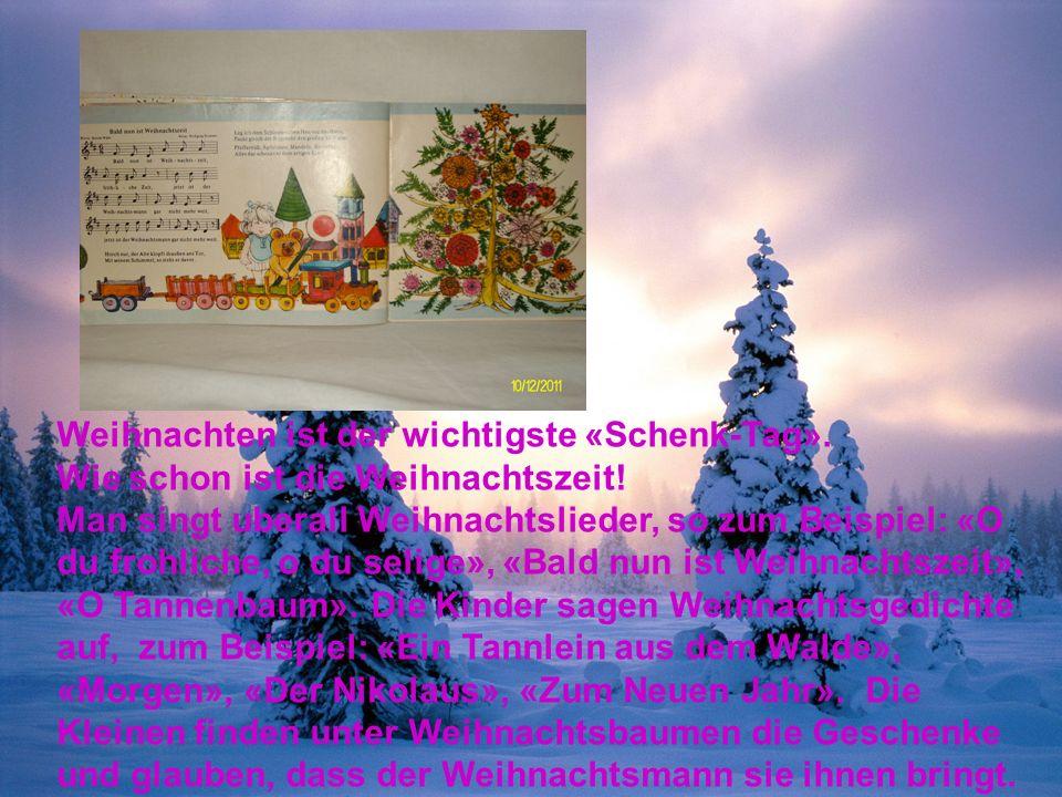 Weihnachten ist der wichtigste «Schenk-Tag». Wie schon ist die Weihnachtszeit.