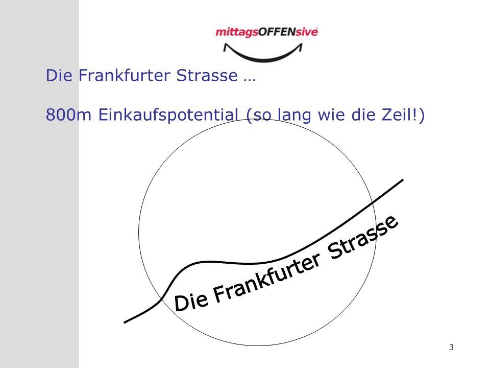 3 Die Frankfurter Strasse … 800m Einkaufspotential (so lang wie die Zeil!)
