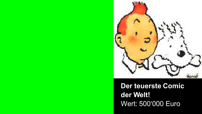Comic Der teuerste Comic der Welt! Wert: 500000 Euro