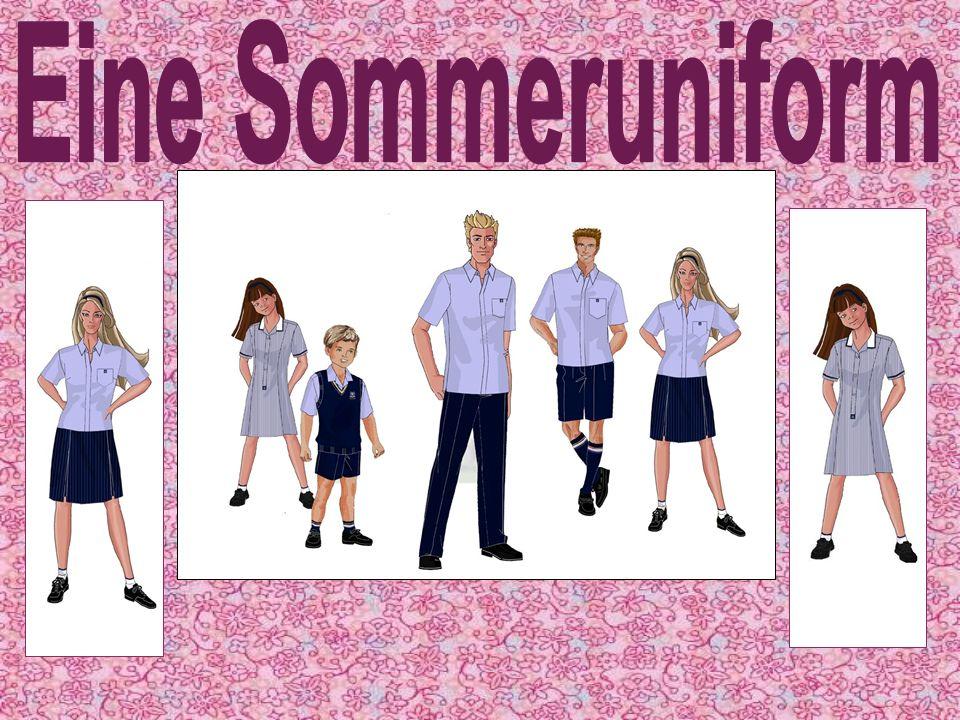 Die Mädchen Sommeruniform ist sehr schick, bequem und ist licht für das heiβ wetter.
