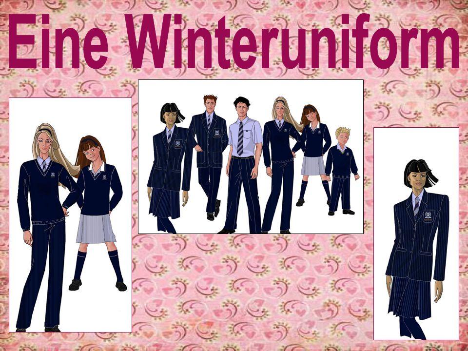 Die Mädchen Winteruniform ist fantastisch.