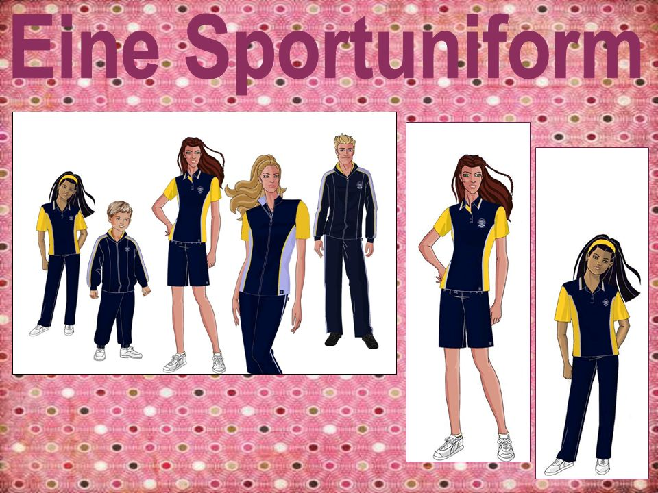Die Mädchen Sportuniform ist bequem, praktisch und modisch.
