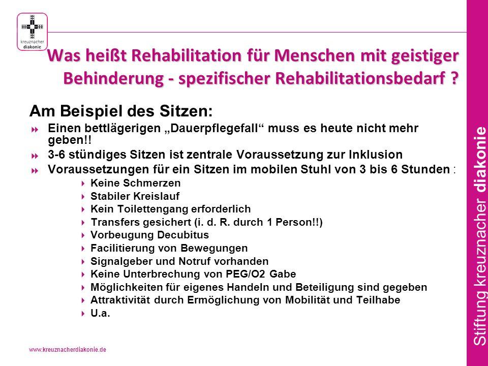 www.kreuznacherdiakonie.de Stiftung kreuznacher diakonie Was heißt Rehabilitation für Menschen mit geistiger Behinderung - spezifischer Rehabilitationsbedarf .