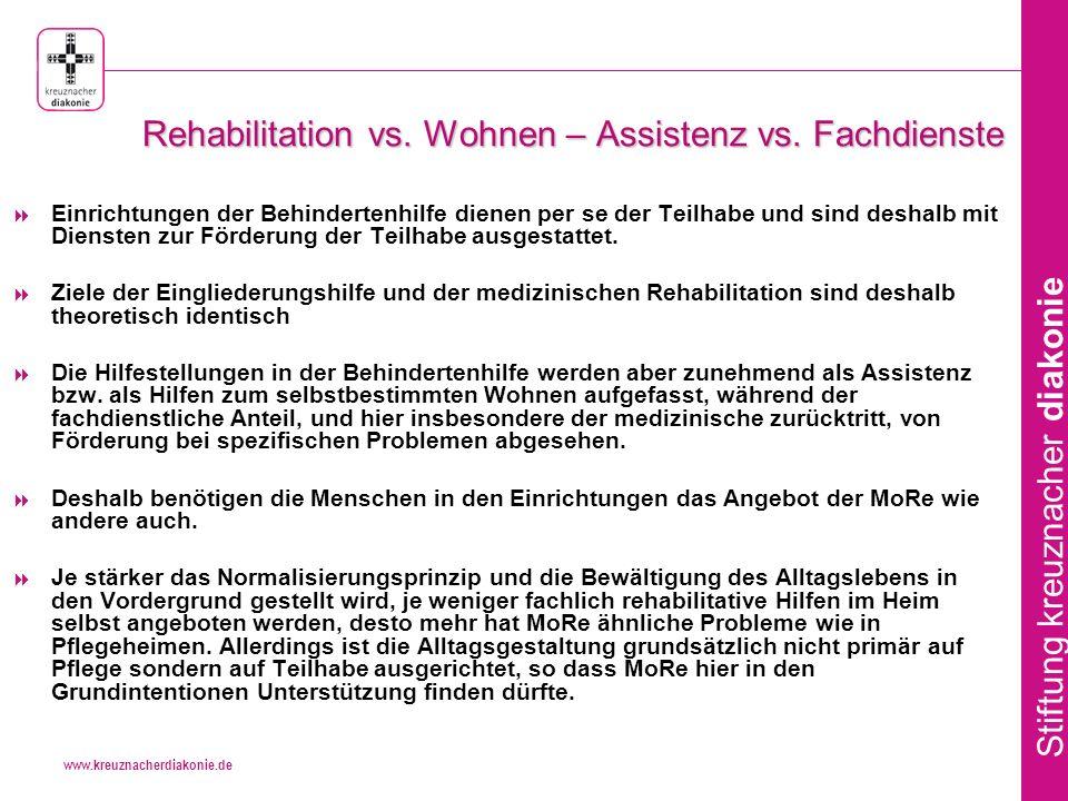 www.kreuznacherdiakonie.de Stiftung kreuznacher diakonie Rehabilitation vs.