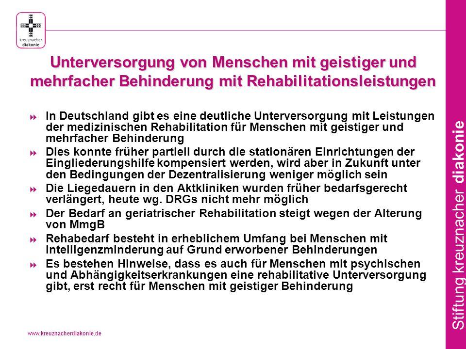 www.kreuznacherdiakonie.de Stiftung kreuznacher diakonie MoRe - Auszug Gesetzesbegründung zu § 40 Abs.