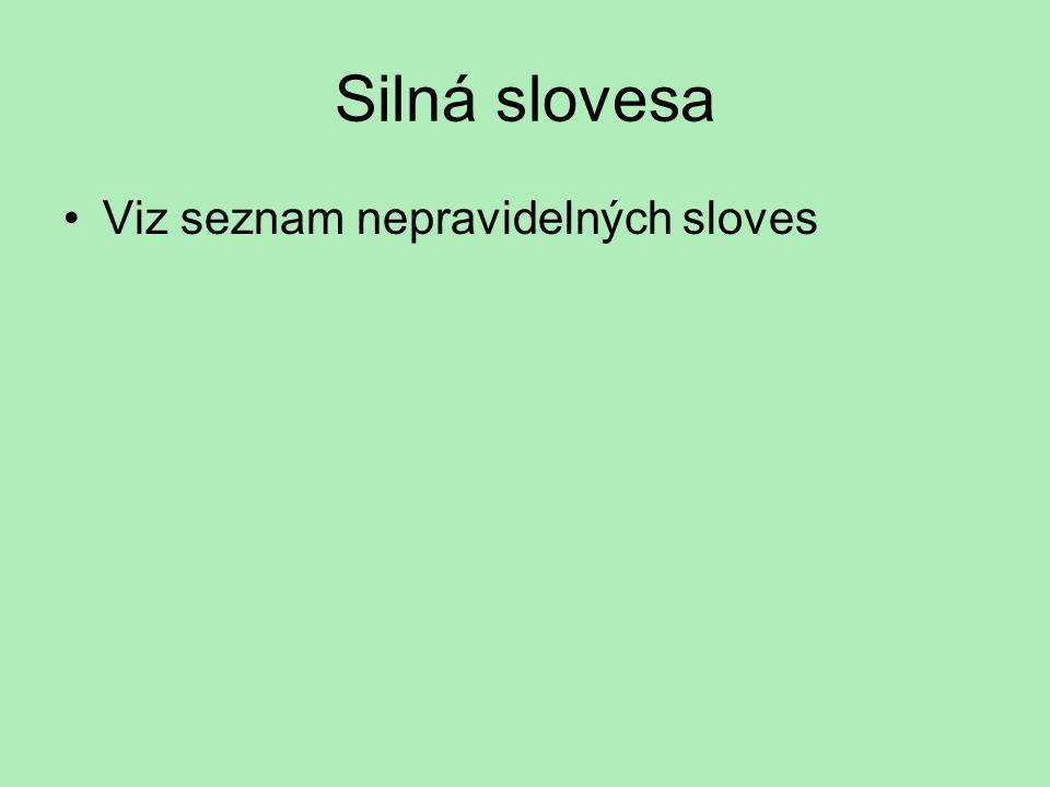 I.část SLOVESA (VERBEN) přítomný čas sloves – pomocná, modální, přítomný čas sloves – pomocná, modální, silná slovesa, slovesa s odlučitelnými a neodl