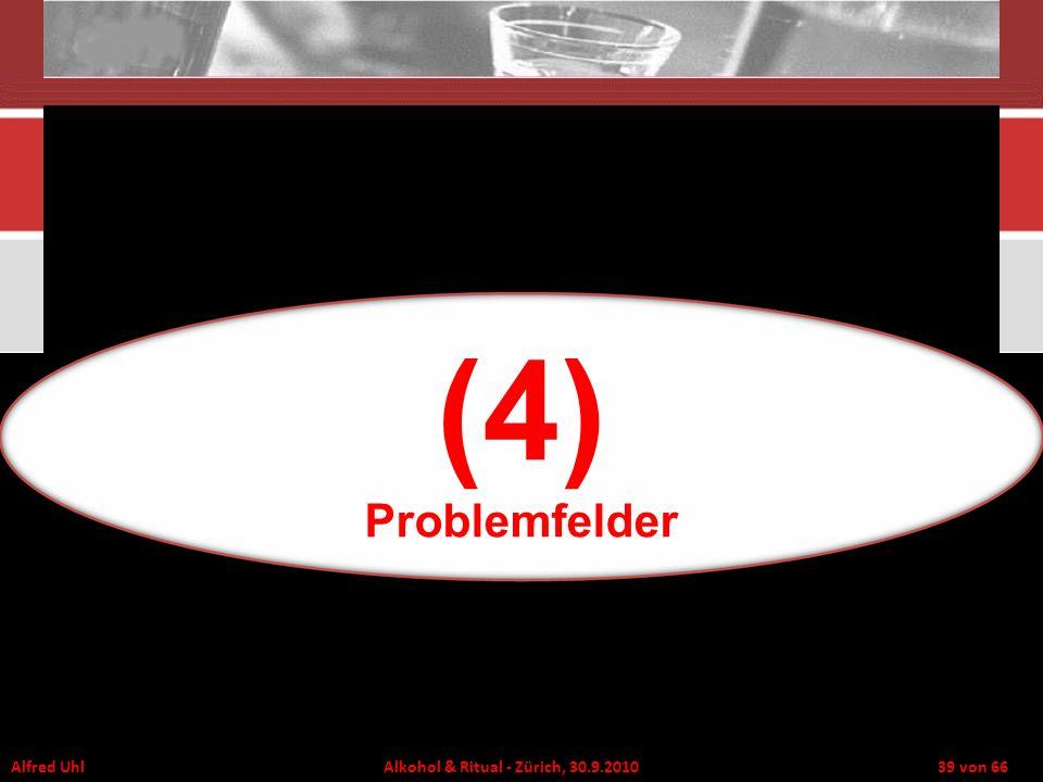 Alfred Uhl Alkohol & Ritual - Zürich, 30.9.2010 39 von 66 (4) Problemfelder