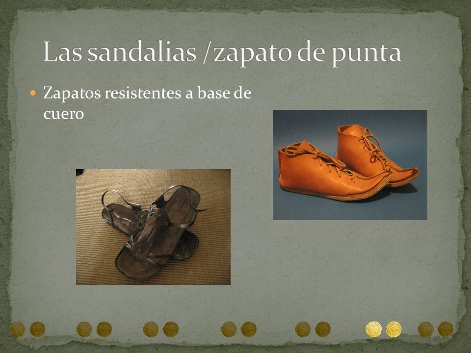 Zapatos resistentes a base de cuero