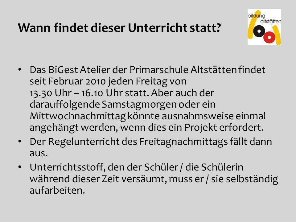 Bewerbung / Aufgaben für das BiGest Atelier Schöntal.