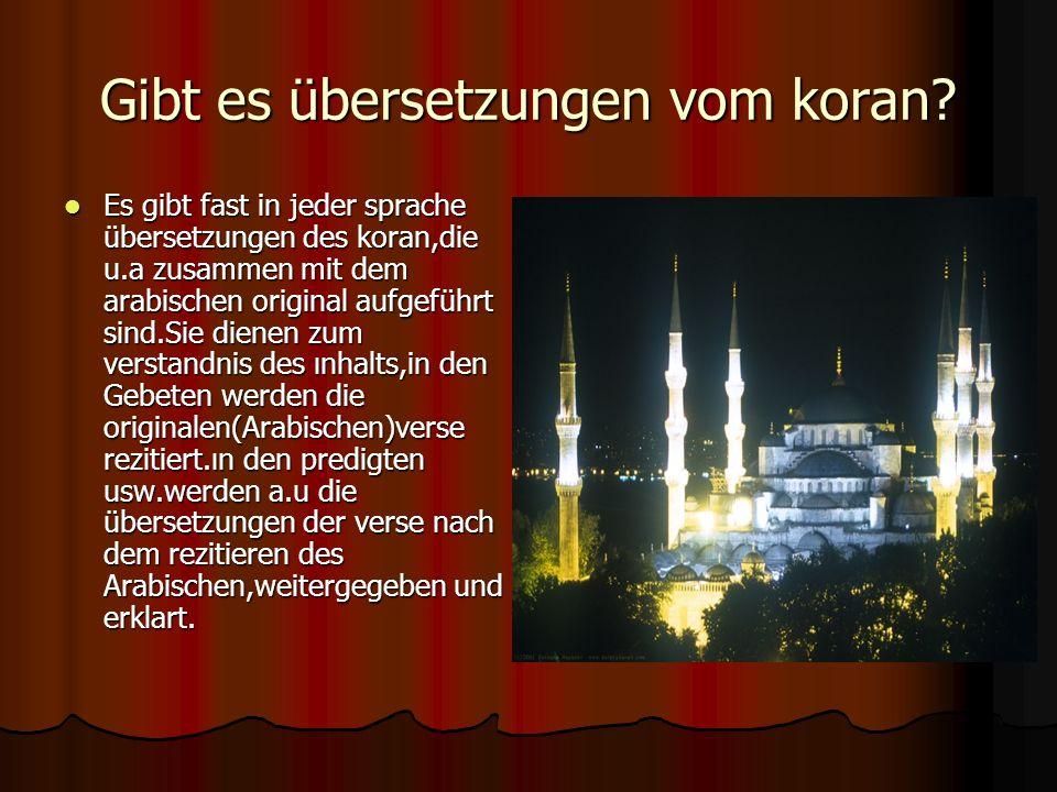 Gibt es übersetzungen vom koran.