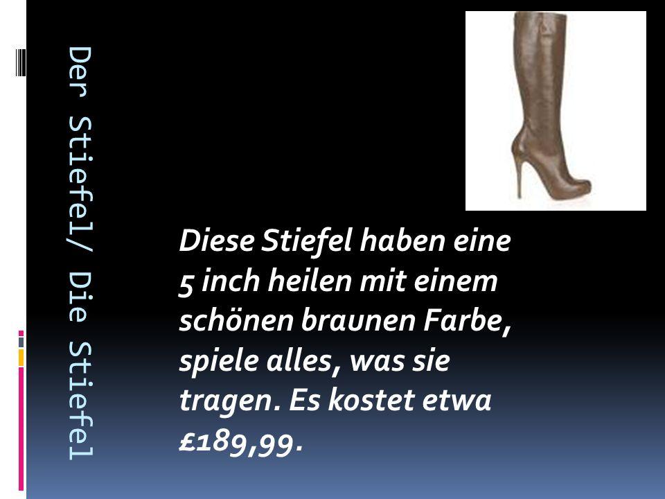 Der Stiefel/ Die Stiefel Diese Stiefel haben eine 5 inch heilen mit einem schönen braunen Farbe, spiele alles, was sie tragen.