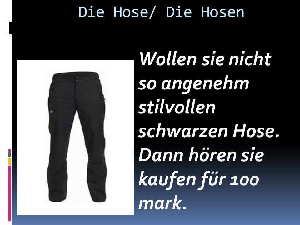 Die Hose/ Die Hosen Wollen sie nicht so angenehm stilvollen schwarzen Hose.