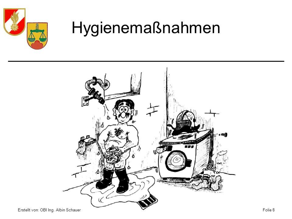 Erstellt von: OBI Ing. Albin SchauerFolie 8 Hygienemaßnahmen
