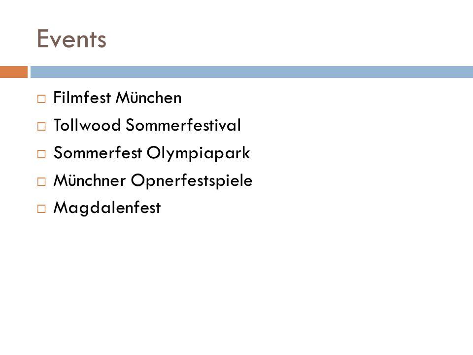 Events Filmfest München Tollwood Sommerfestival Sommerfest Olympiapark Münchner Opnerfestspiele Magdalenfest