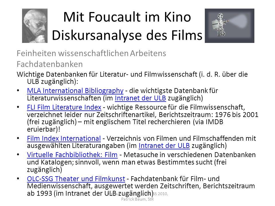 Feinheiten wissenschaftlichen Arbeitens Fachdatenbanken Wichtige Datenbanken für Literatur- und Filmwissenschaft (i. d. R. über die ULB zugänglich): M