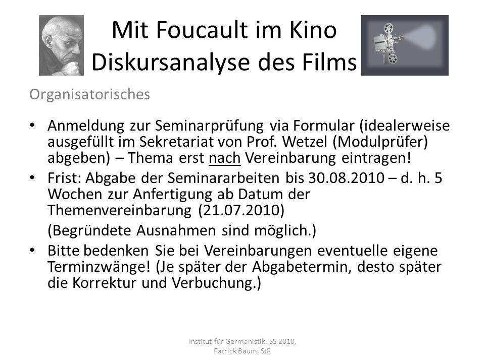 Organisatorisches Anmeldung zur Seminarprüfung via Formular (idealerweise ausgefüllt im Sekretariat von Prof. Wetzel (Modulprüfer) abgeben) – Thema er