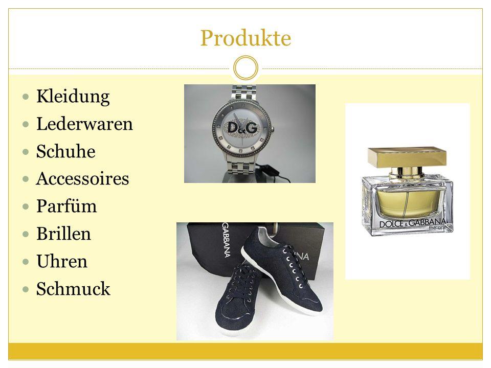 Produkte Kleidung Lederwaren Schuhe Accessoires Parfüm Brillen Uhren Schmuck