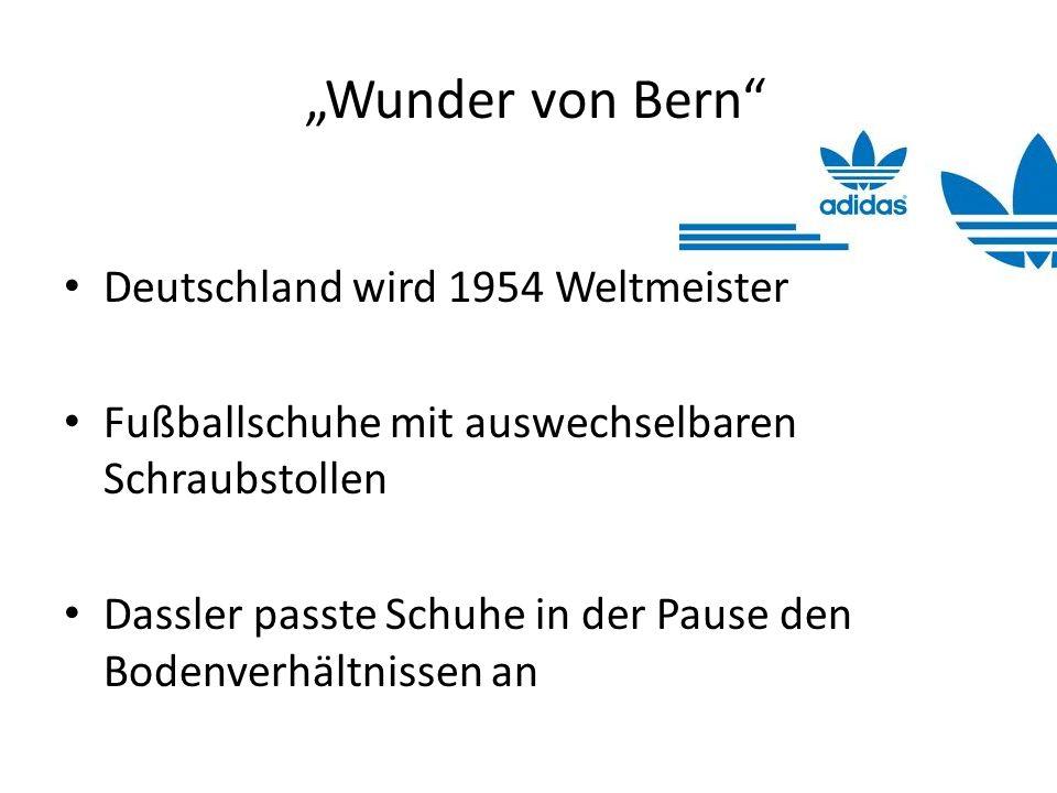 Wunder von Bern Deutschland wird 1954 Weltmeister Fußballschuhe mit auswechselbaren Schraubstollen Dassler passte Schuhe in der Pause den Bodenverhält