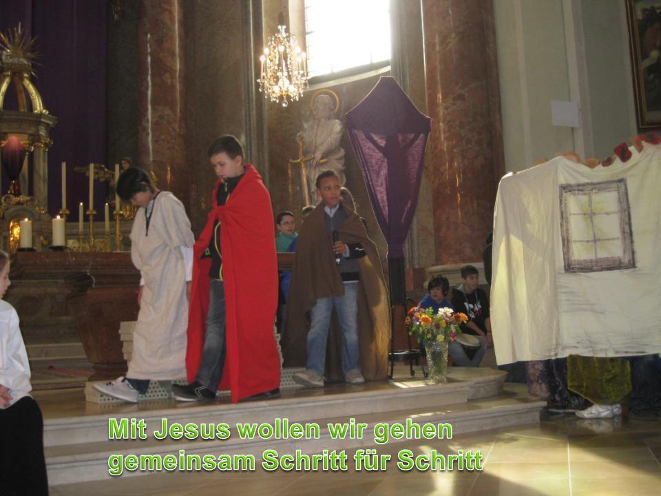 Ich folge Jesus heimlich.Das ist das Haus des Hohenpriesters.