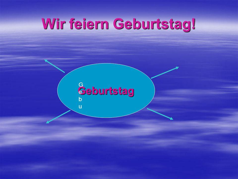 Der Geburtstag – день рождения Der Geburtstag – день рождения Die Einladung - приглашение Die Einladung - приглашение Einladen - приглашать Einladen - приглашать Gratulieren - поздравлять Gratulieren - поздравлять Das Geschenk- подарок Das Geschenk- подарок Schenken - дарить Schenken - дарить das Eis - мороженое das Eis - мороженое Die Torte - торт Die Torte - торт