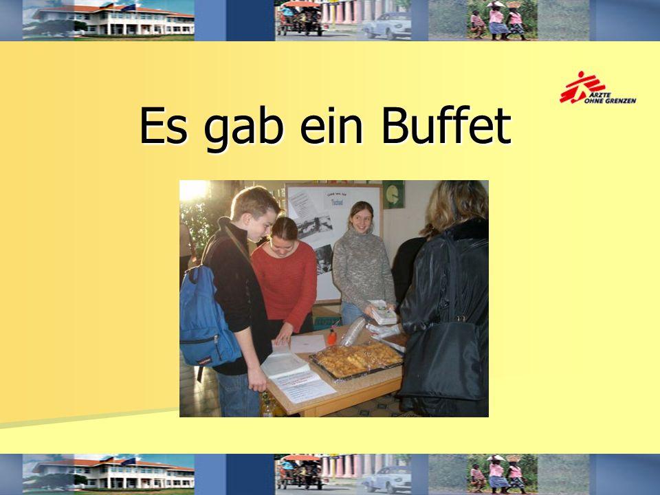 Es gab ein Buffet