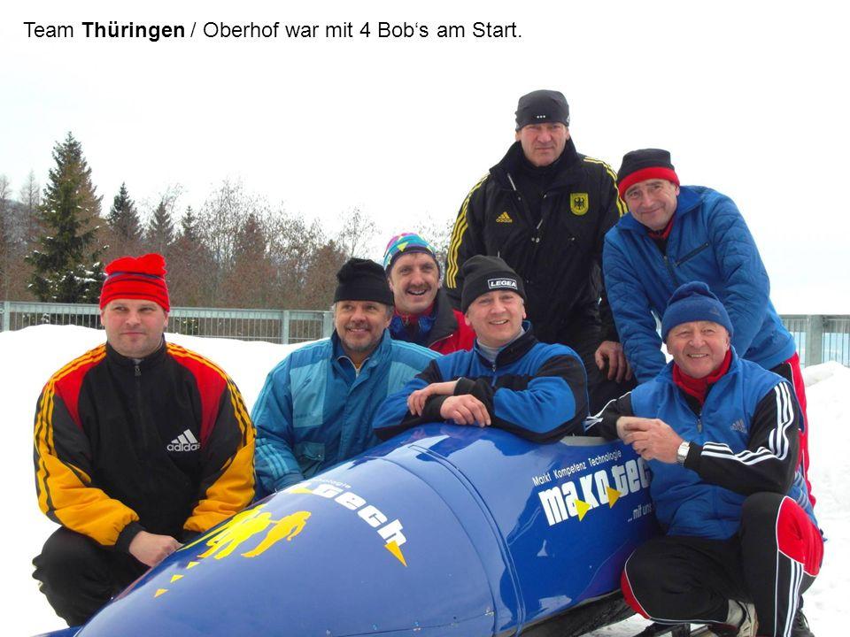 Team Thüringen / Oberhof war mit 4 Bobs am Start.