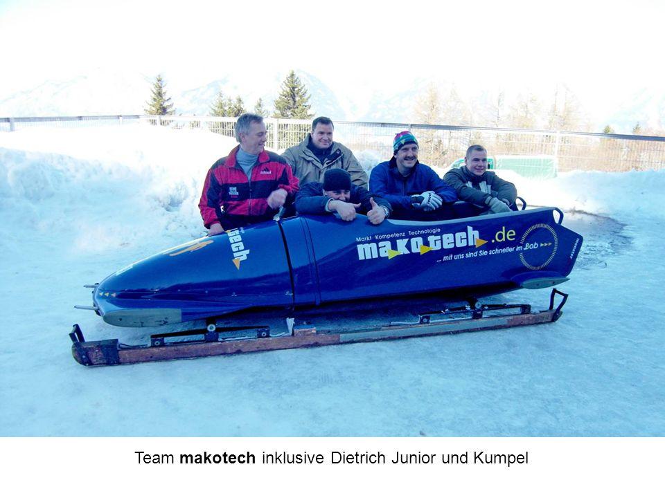 Team makotech inklusive Dietrich Junior und Kumpel