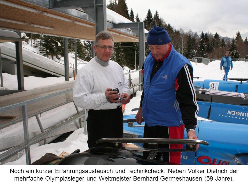 Noch ein kurzer Erfahrungsaustausch und Technikcheck. Neben Volker Dietrich der mehrfache Olympiasieger und Weltmeister Bernhard Germeshausen (59 Jahr