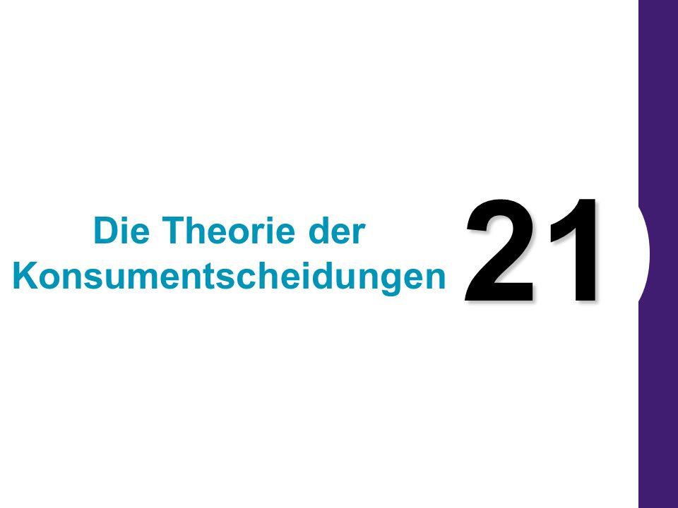 21 Die Theorie der Konsumentscheidungen