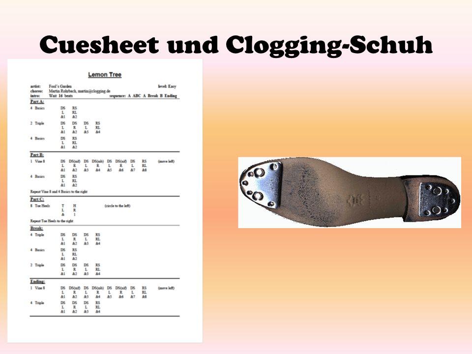 Cuesheet und Clogging-Schuh