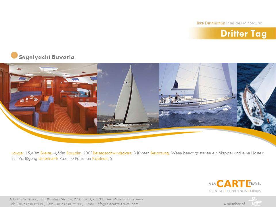 Länge: 15,43m Breite: 4,55m Baujahr: 2001Reisegeschwindigkeit: 8 Knoten Besatzung: Wenn benötigt stehen ein Skipper und eine Hostess zur Verfügung Unt