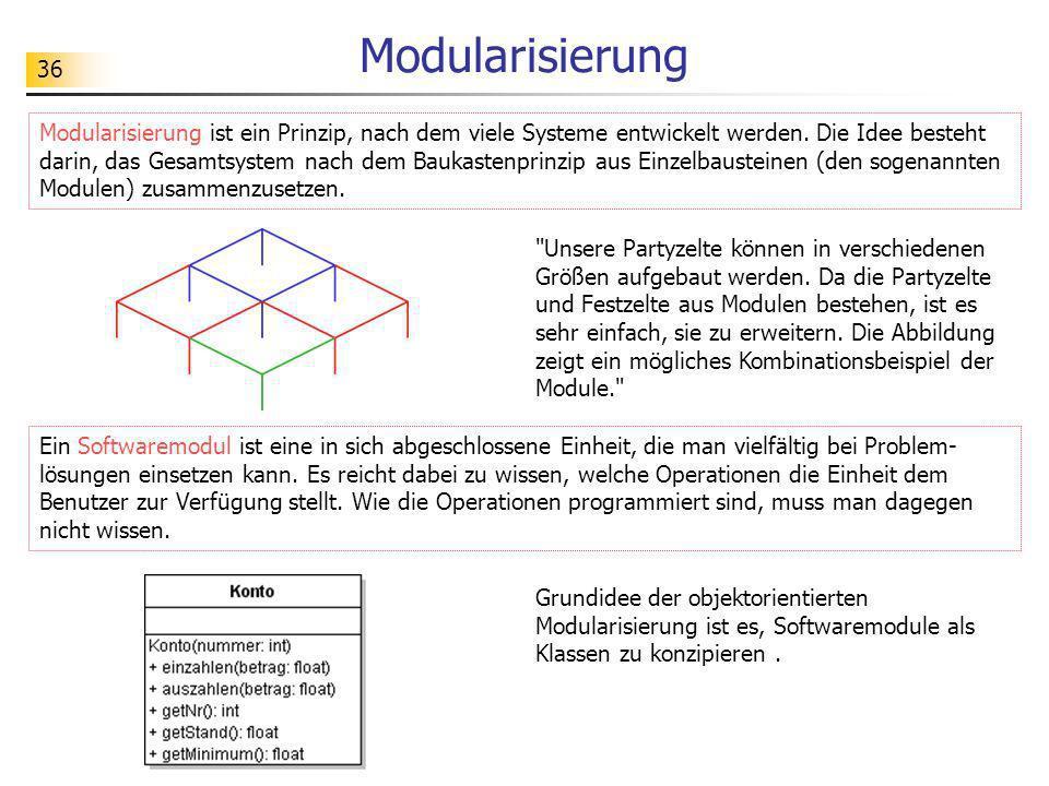 36 Modularisierung
