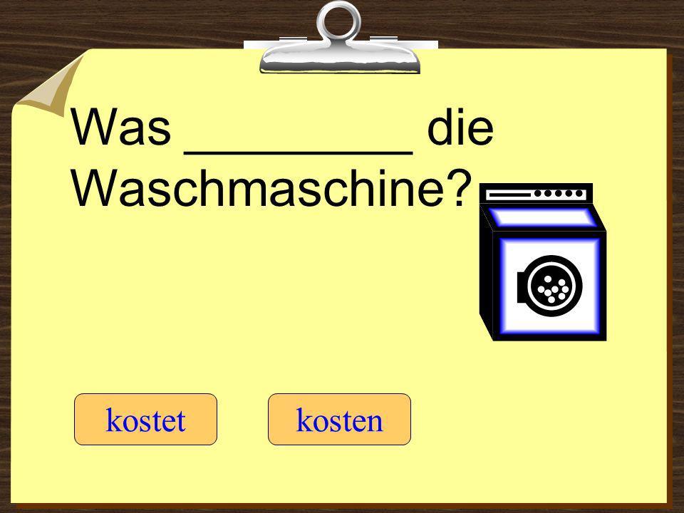 Was ________ die Waschmaschine? kostetkosten