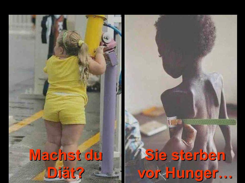 Machst du Diät? Sie sterben vor Hunger…