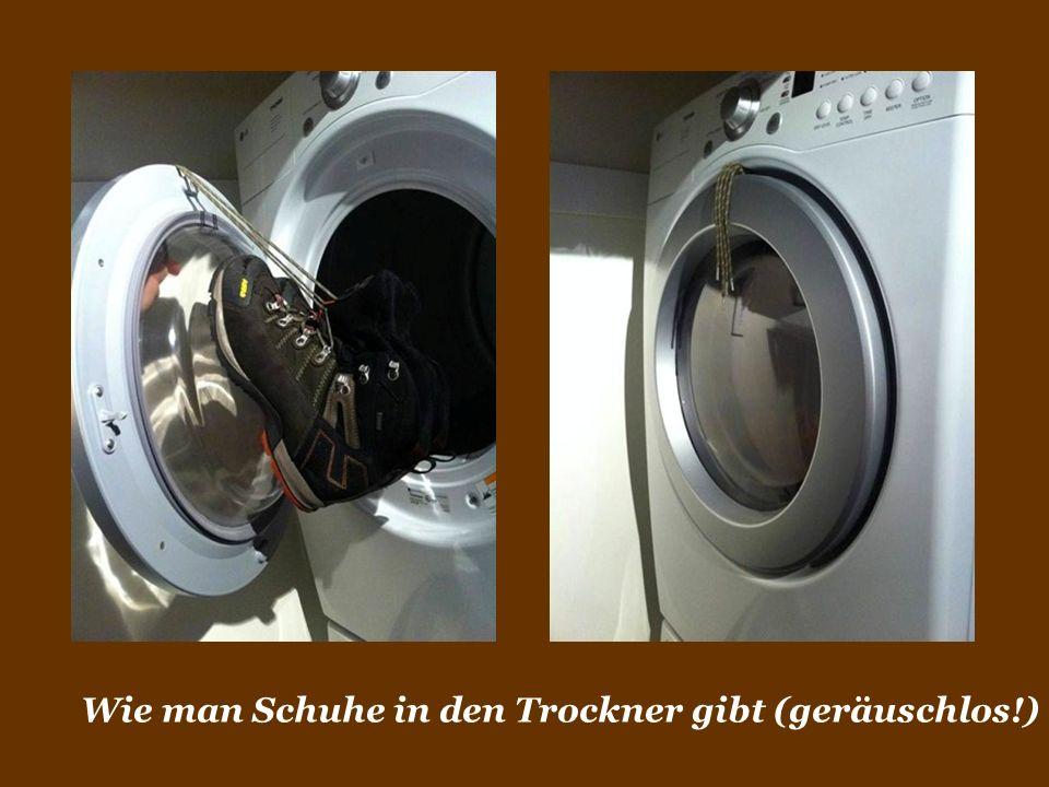 Wie man Schuhe in den Trockner gibt (geräuschlos!)