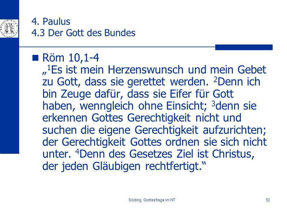 Söding, Gottesfrage im NT52 4.