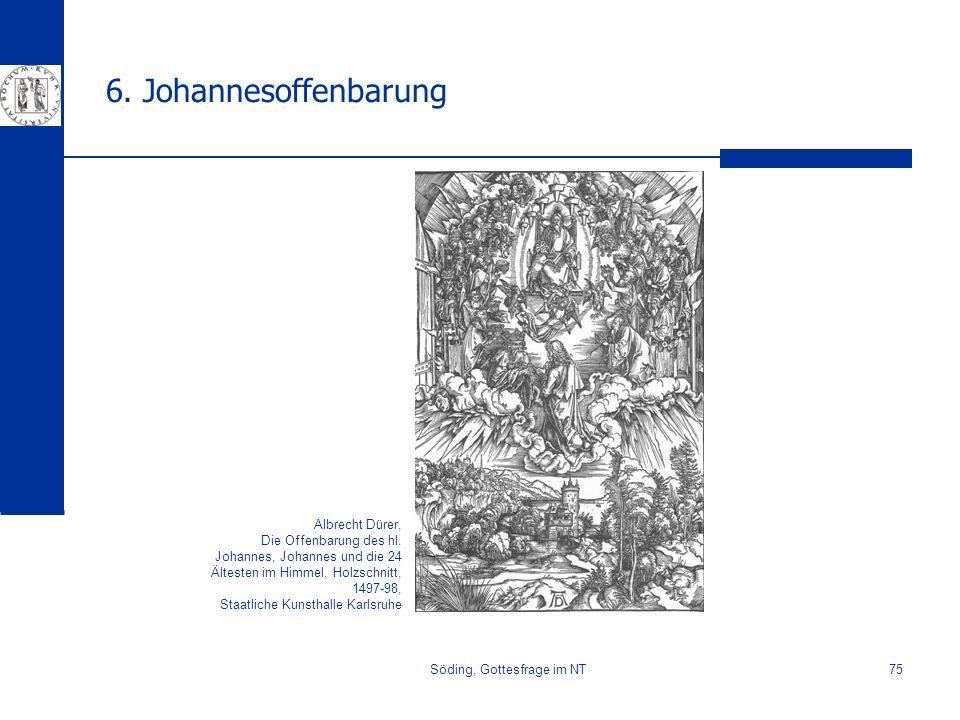 Söding, Gottesfrage im NT75 6. Johannesoffenbarung Albrecht Dürer, Die Offenbarung des hl. Johannes, Johannes und die 24 Ältesten im Himmel, Holzschni
