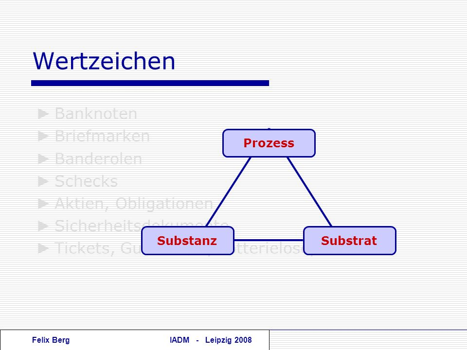Felix BergIADM - Leipzig 2008 Wertzeichen Banknoten Briefmarken Banderolen Schecks Aktien, Obligationen Sicherheitsdokumente Tickets, Gutscheine, Lott