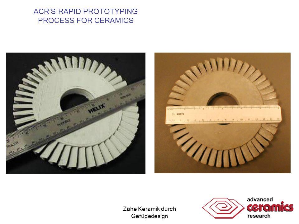 Zähe Keramik durch Gefügedesign ACRS RAPID PROTOTYPING PROCESS FOR CERAMICS