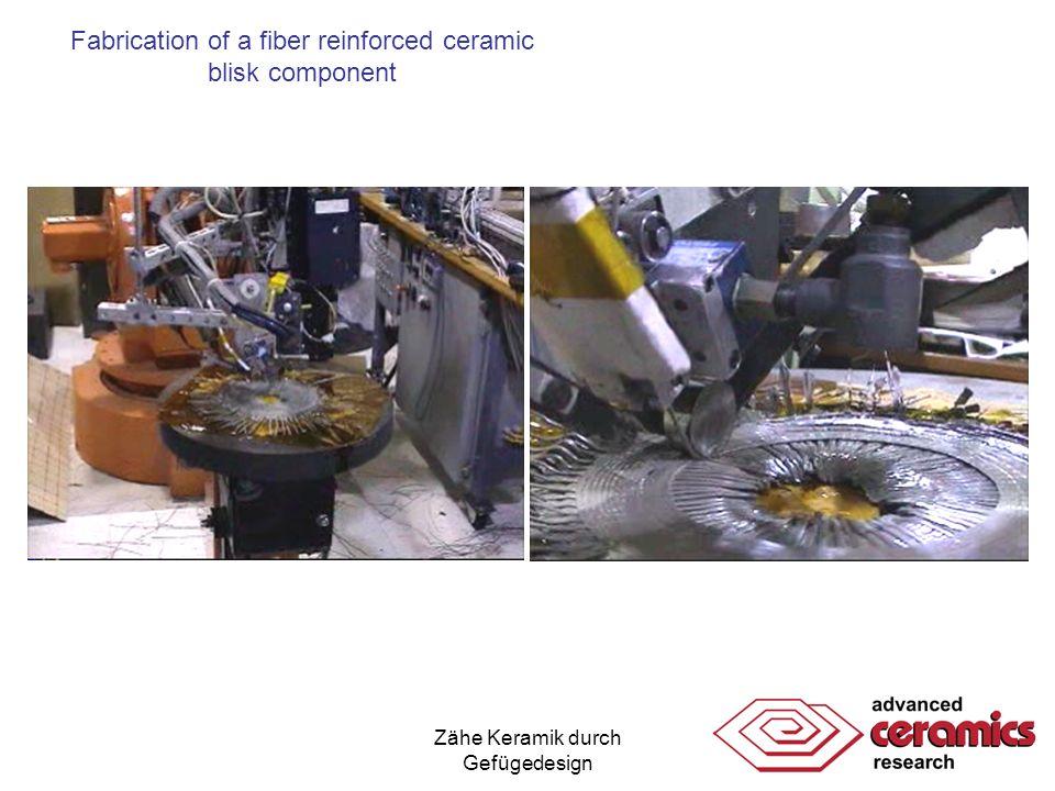 Zähe Keramik durch Gefügedesign Fabrication of a fiber reinforced ceramic blisk component